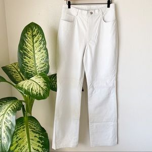 Vintage | White Leather Pants